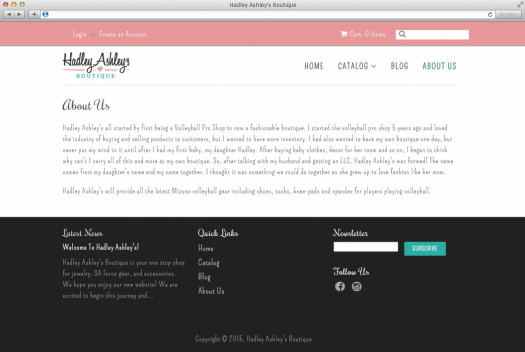Hadley Ashley's About Page