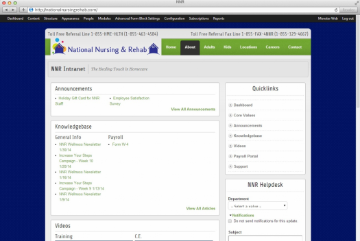 National Nursing and Rehab Employee Login Page