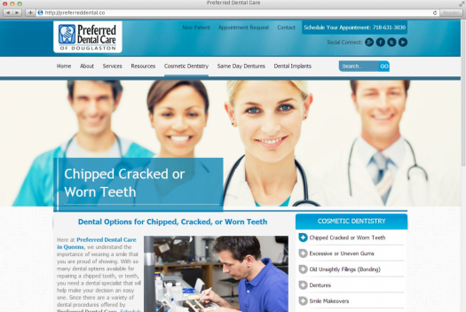 Preferred Dental Care Service Page