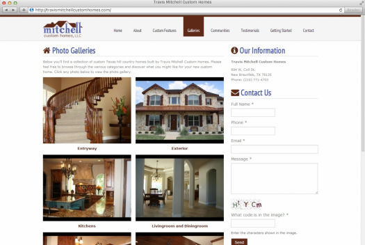 Travis Mitchell Custom Homes Galleries Page