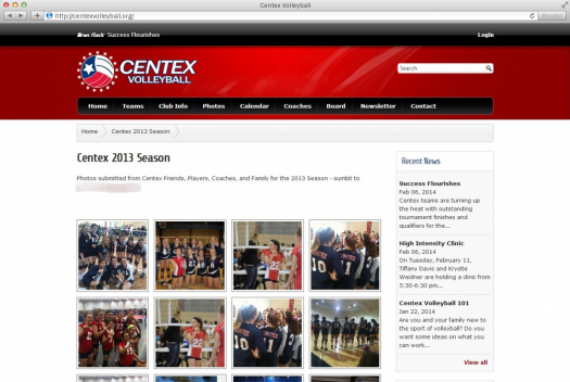 Centex Volleyball Gallery Page