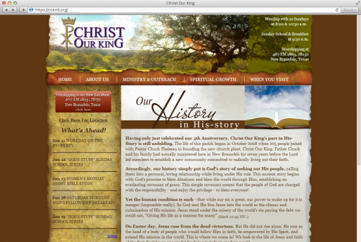 Christ Our King History Page