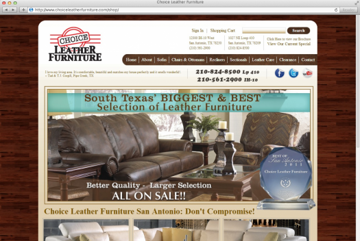 Choice Leather Furniture Home Page