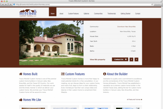 Travis Mitchell Custom Homes Home Page