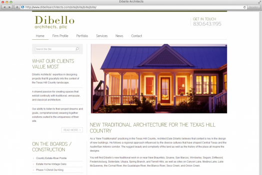 DiBello Architects Home Page