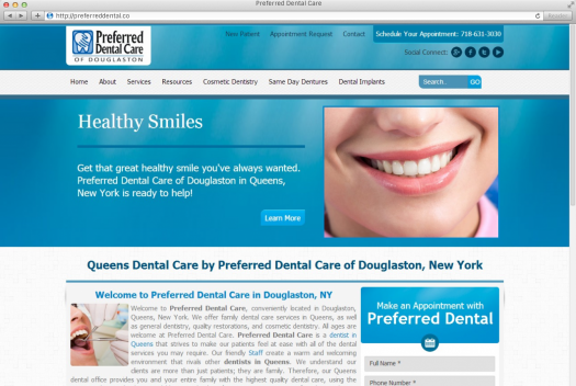 Preferred Dental Care Home Page