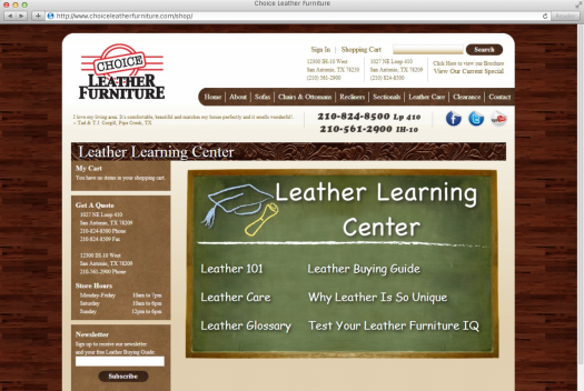 Choice Leather Furniture Leather Learning Center Page