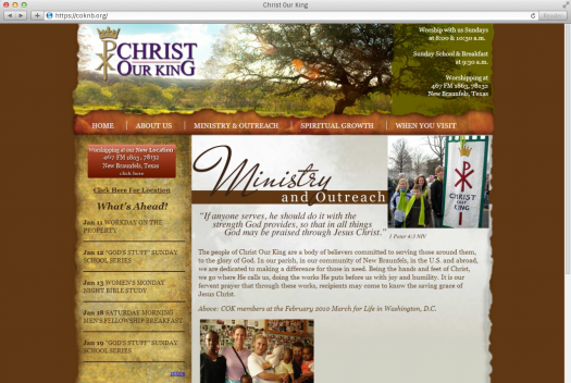 Christ Our King Ministry Page