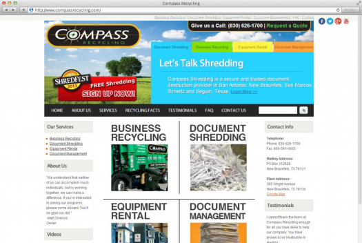 Compass Recycling Services Page