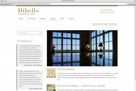 Dibello Architects | Dynamite Design for Dibello! | MonsterWeb