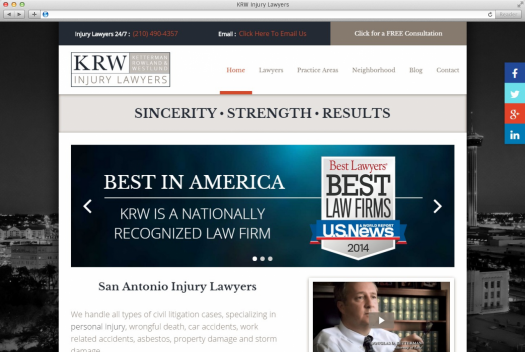 KRW Injury Lawyers Home Page