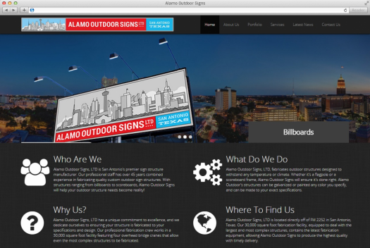 Alamo Outdoor Home Page