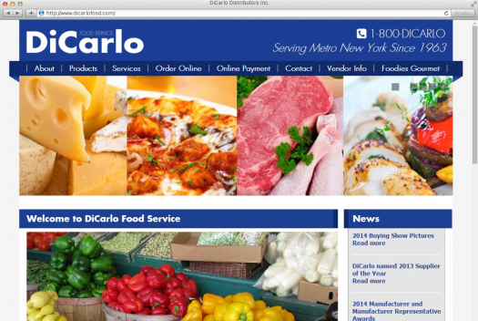 DiCarlo Food Home Page
