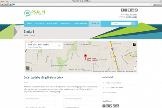 Psalms Sinus Institute Contact Page