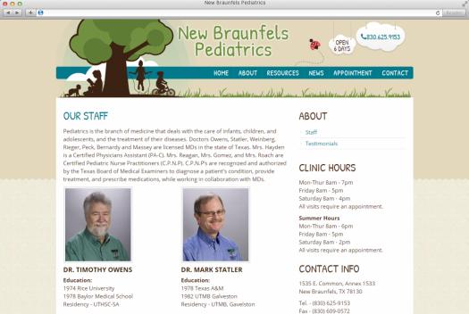 NB Pediatrics Staff Page